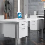 Cantilever Desk with Single Pedestal